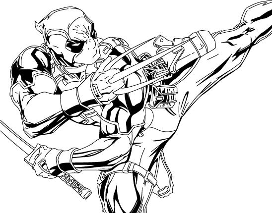 Great Deadpool And Wolverine Coloring Pages 1
