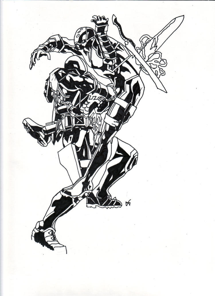 Great Deathstroke Coloring Pages Arkham Origins Coloring Ideas