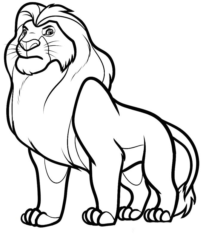 Great Disney Coloring Pages Lion King