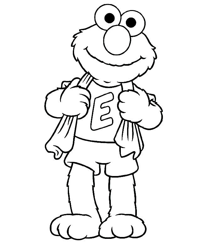 Great Elmo Abc Coloring Pages