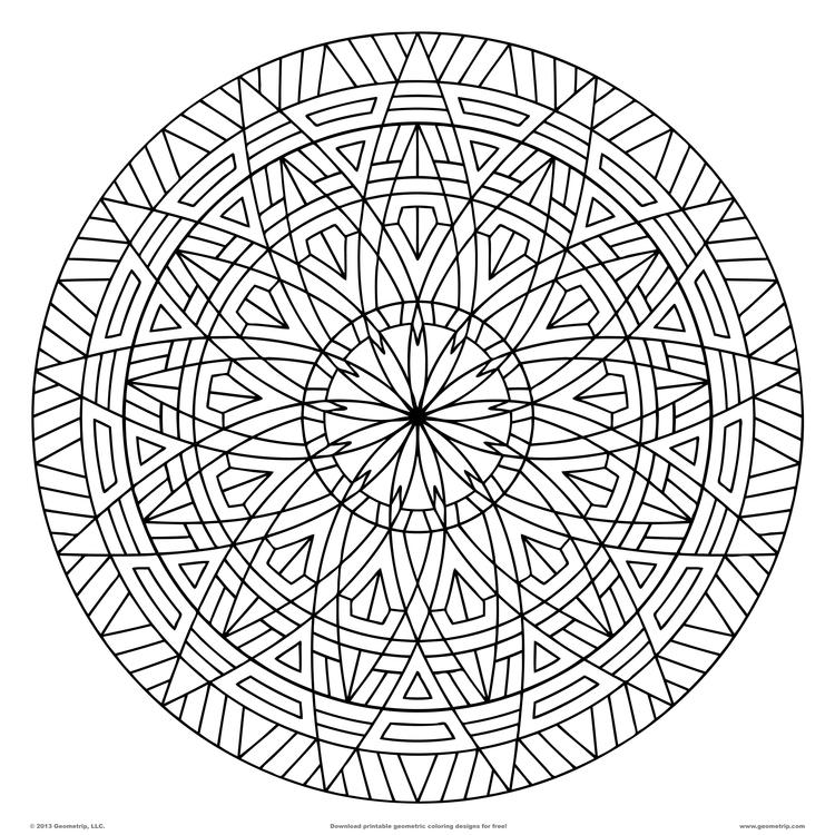 Great Geometric Pattern Coloring Pages For Adults