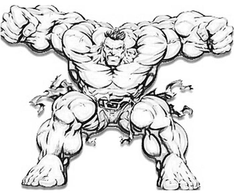 Great Marvel Coloring Pages Hulk