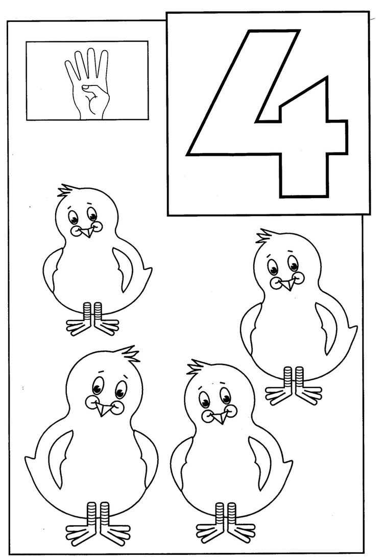 Great Numbers Coloring Pages For Toddlers