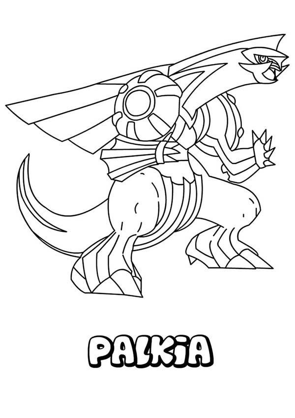 Great Pokemon Palkia Coloring Pages