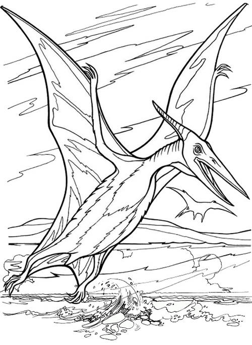 Great Pterodactyl Coloring Page