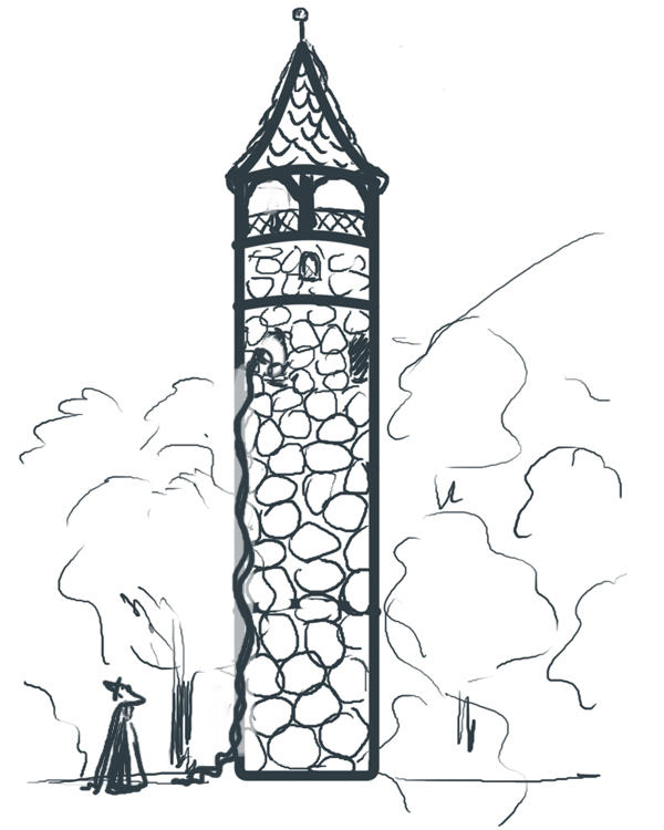 Great Rapunzel Tower Coloring Pages
