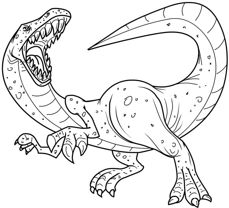 Great Realistic Dinosaurs Coloring Pages