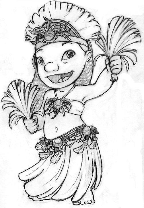 Great Stitch Coloring Pages Ohana