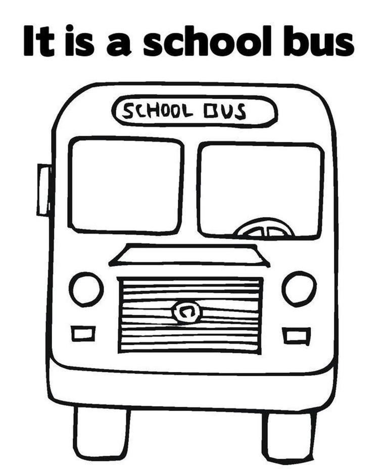 Great Transportation School Bus Coloring Page