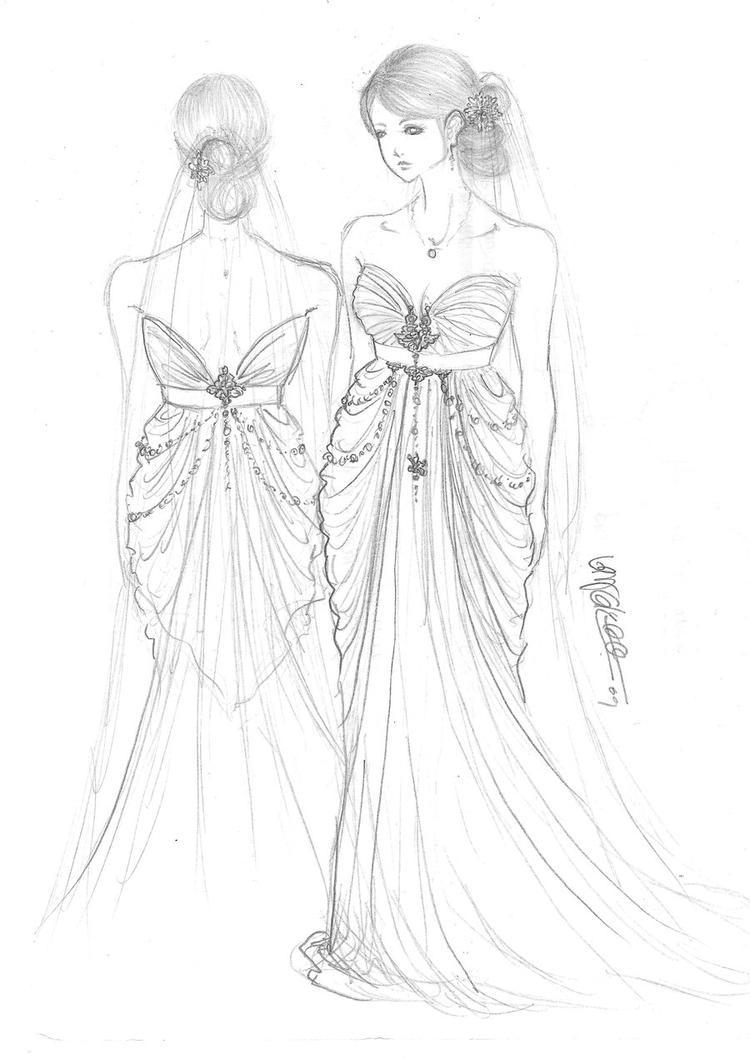 Great Wedding Dress Coloring Pages
