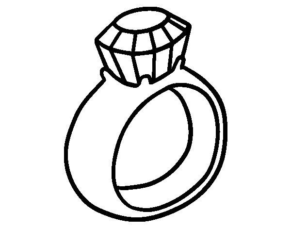 Great Wedding Ring Coloring Pages 1