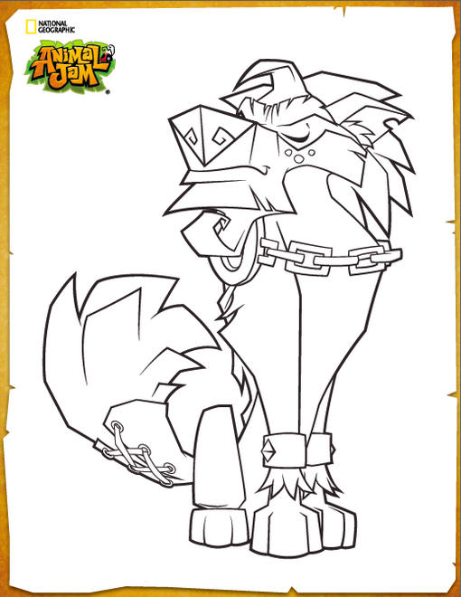 Greely Animal Jam Coloring Picture