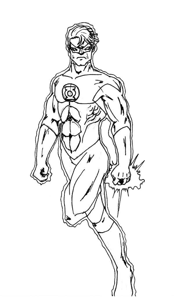 Green Lantern Coloring Pages Free To Print