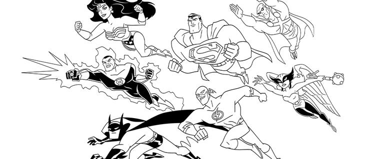 Green Lantern Coloring Pages Justice League