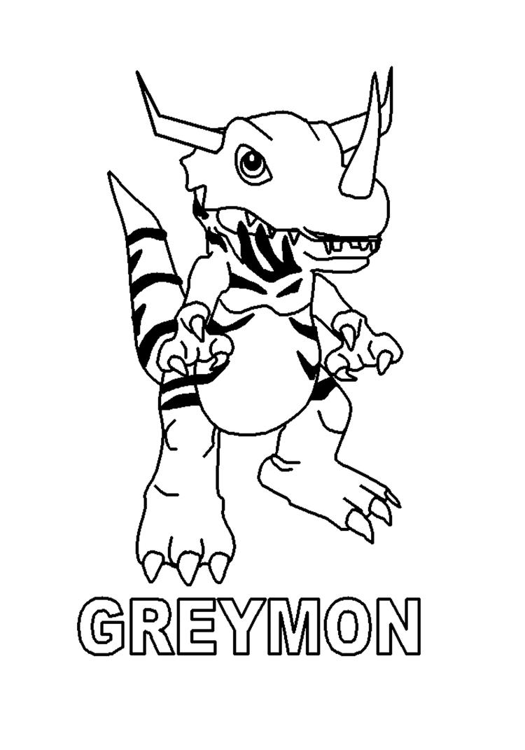 Greymon Digimon Coloring Pages
