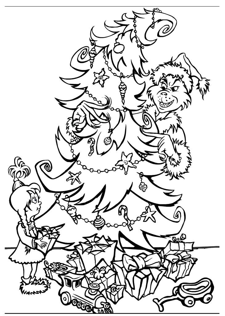 Grinch Coloring Pages Christmas