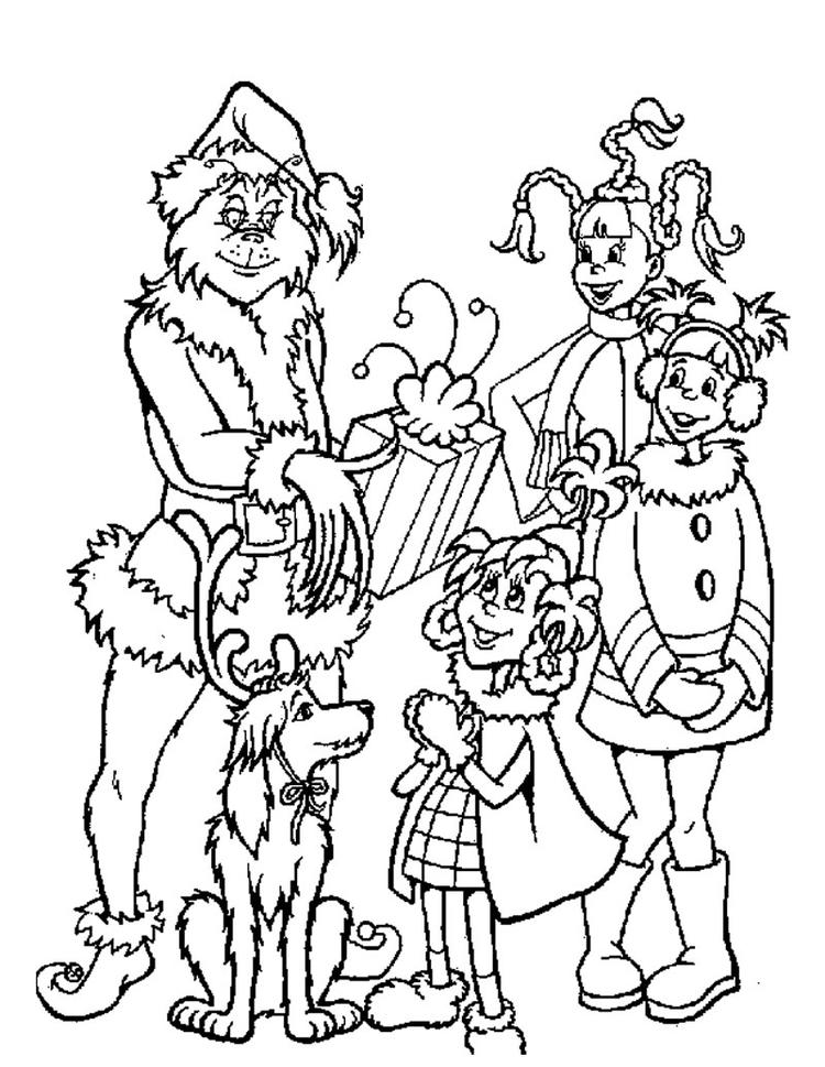 Grinch Coloring Pages With Kids