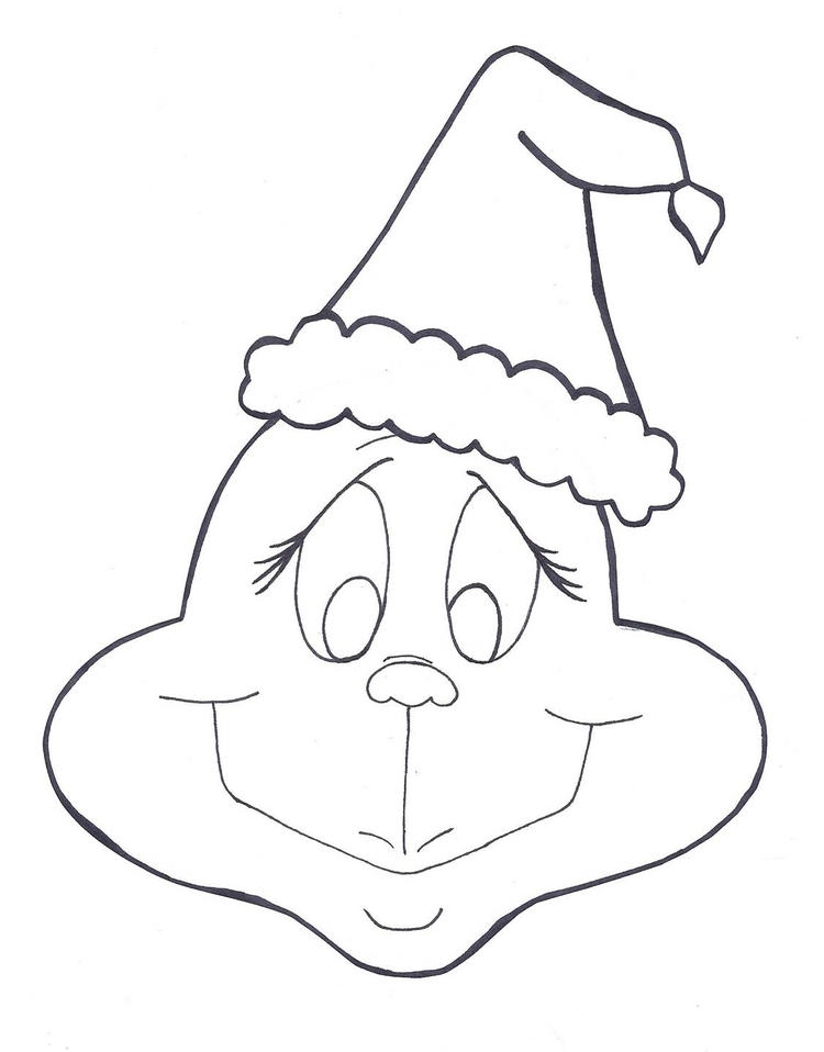 Grinch Face Coloring Pages For Kids