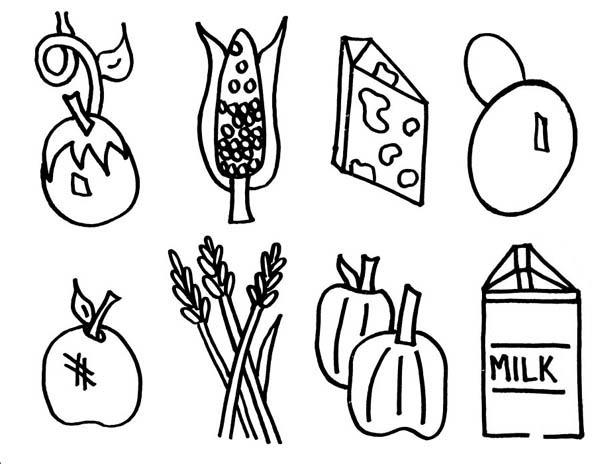 Grown Food Coloring Pages