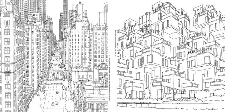 Grown Up Coloring Pages Cityscape