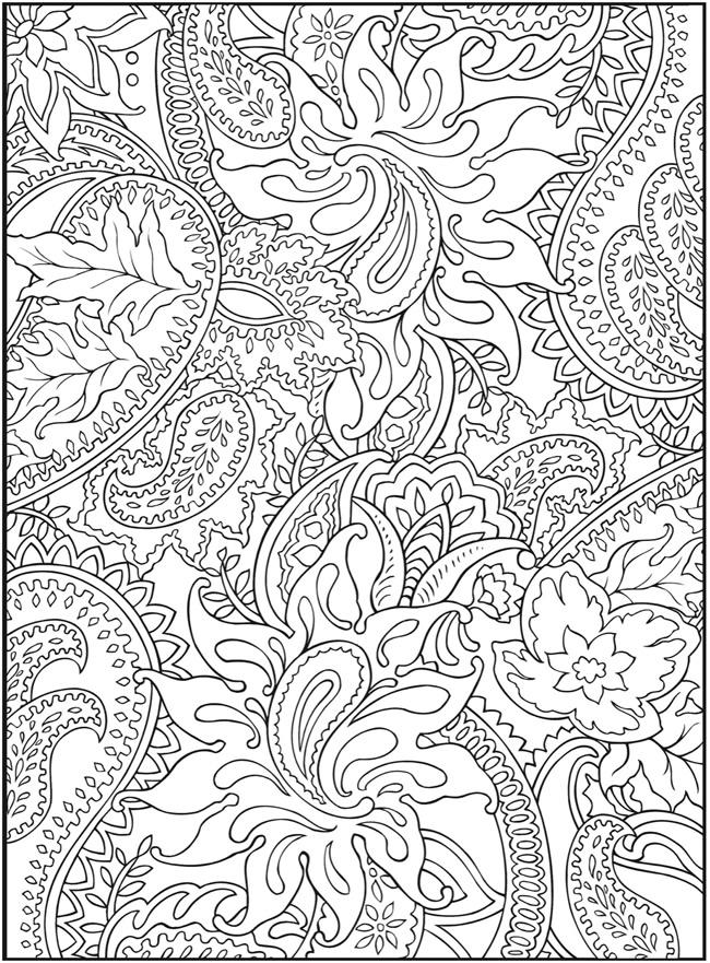 Grown Up Coloring Pages Paisley