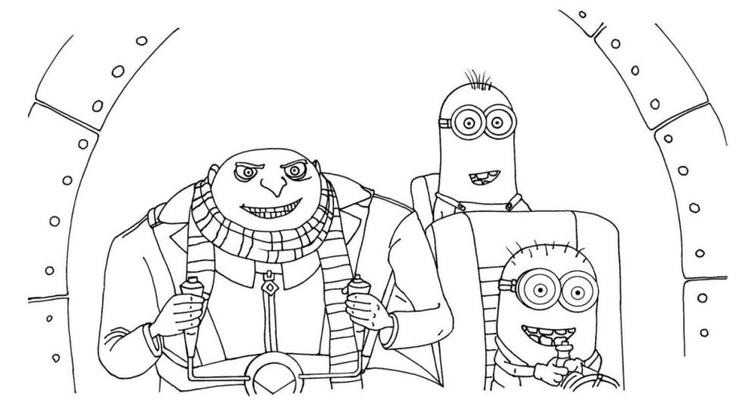 Gru And Minions Despicable Me Coloring Pages