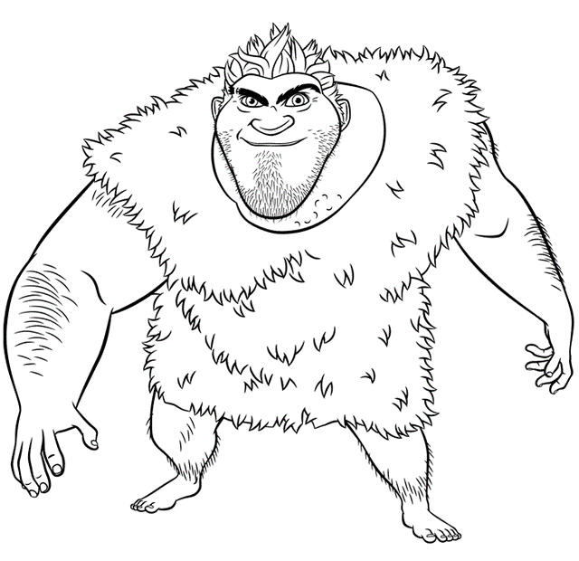 Grug From The Croods Coloring Page Online