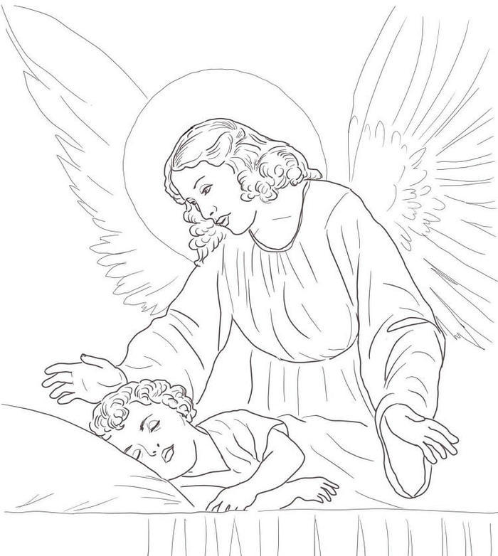 Guardian Angles Coloring Pages