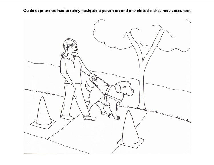 Guide Dog Coloring Pages