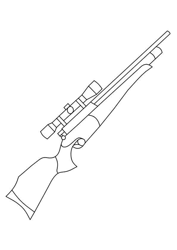 Gun Coloring Pages To Print