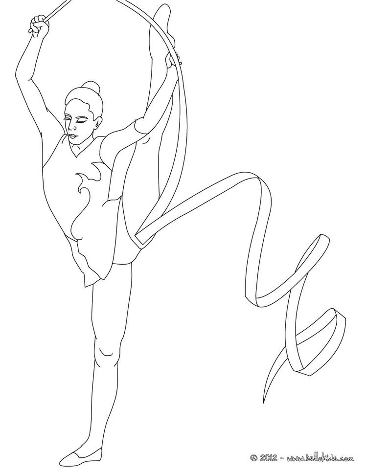 Gymnastics Coloring Pages For Girls 1