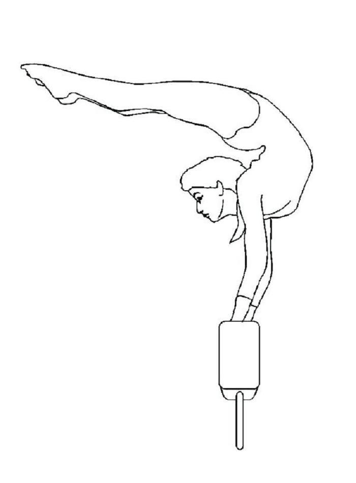 Gymnastics Handstand Coloring Pages