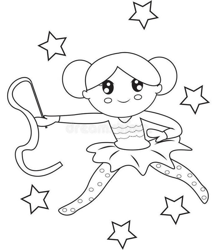 Gymnastics Kids Coloring Pages