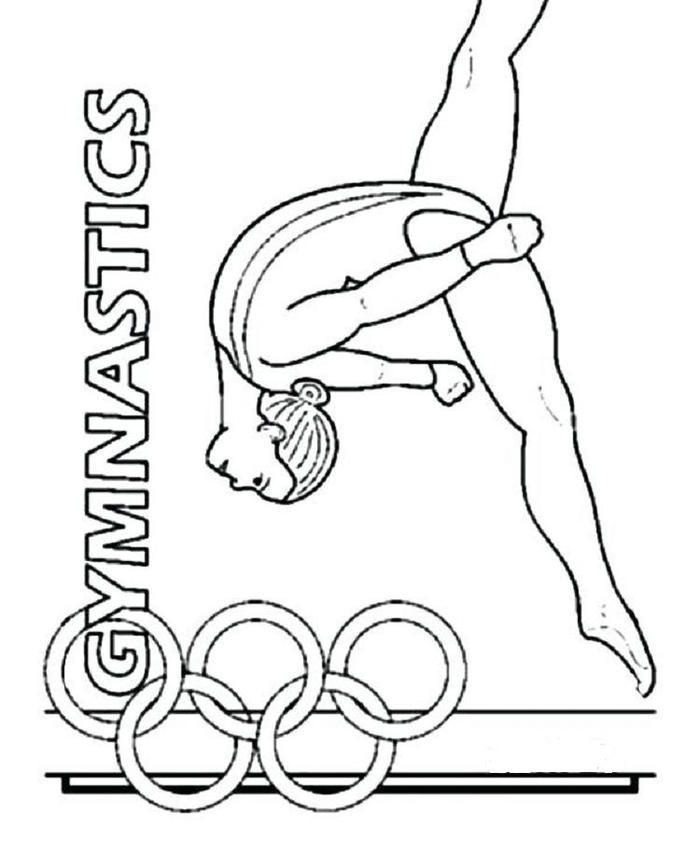 Gymnastics Olympic Game Coloring Pages