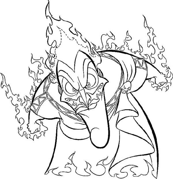 Hades Is Mad To Hercules Coloring Pages