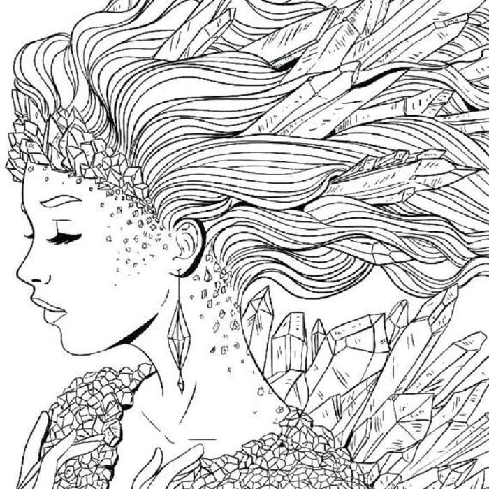Hair Coloring Pages For Adults