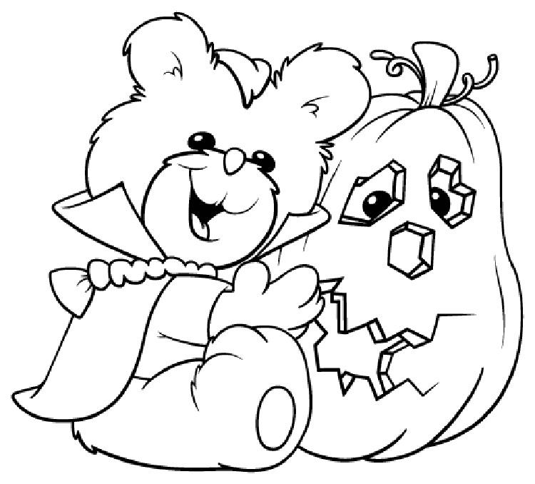 Halloween Bear Coloring Pages