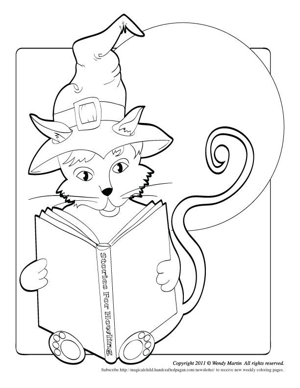 Halloween Cat Coloring Pages Printable