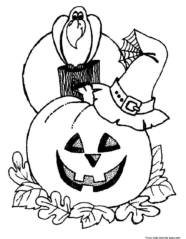 Halloween Coloring Page For Kids