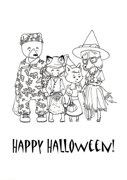 Halloween Coloring Page Happy Halloween