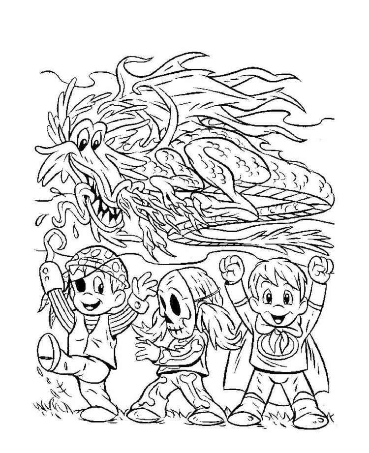 Halloween Coloring Pages Advanced