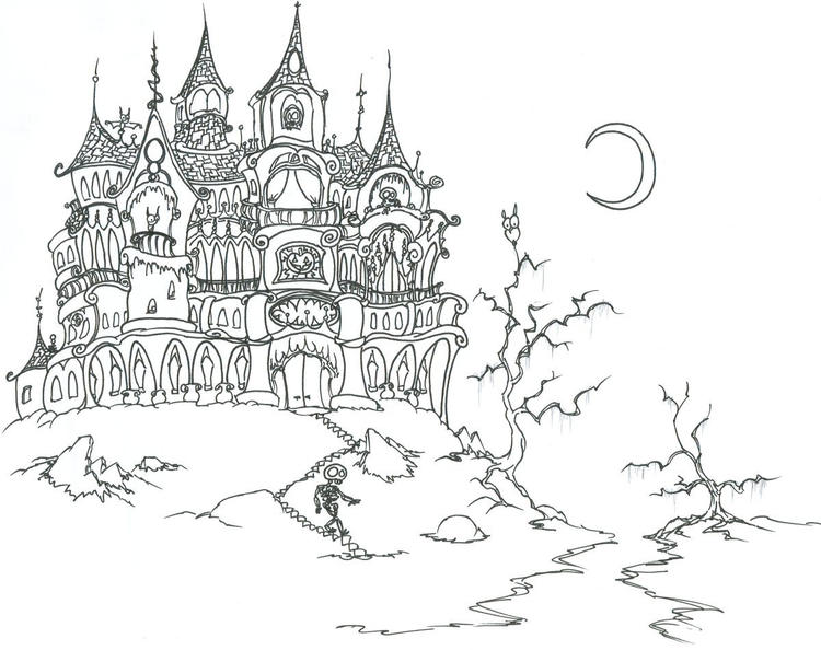 Halloween Coloring Pages For Adults Printables