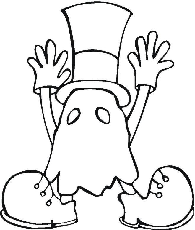 Halloween Coloring Pages For Kids Ghosts Costume