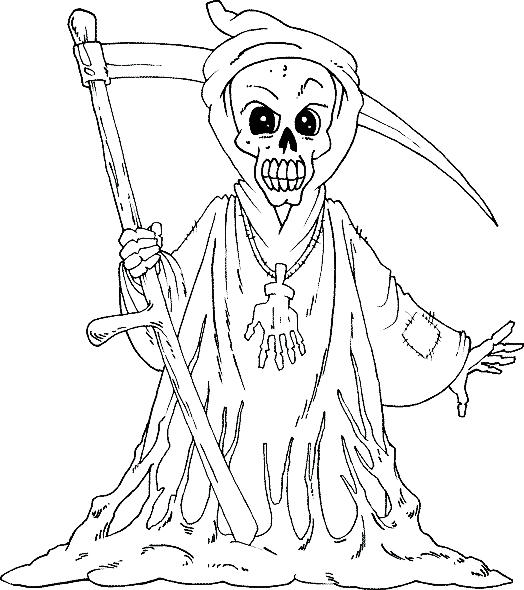 Halloween Coloring Pages Grim Reaper