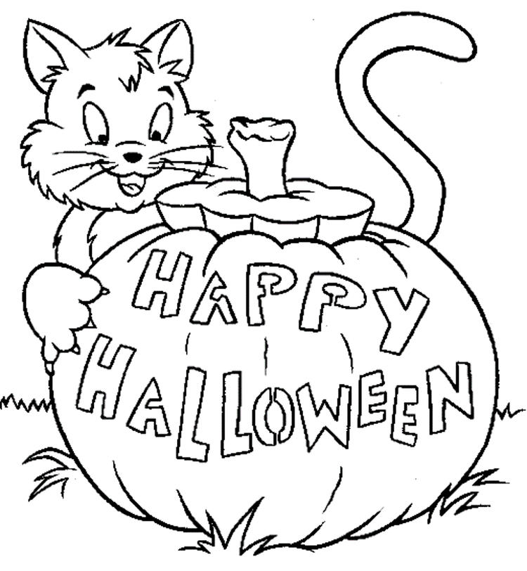 Halloween Coloring Pages Happy Halloween