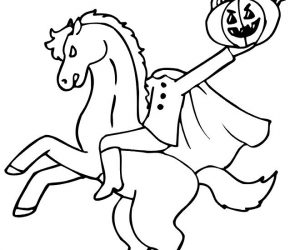 Halloween coloring pages headless horseman 2
