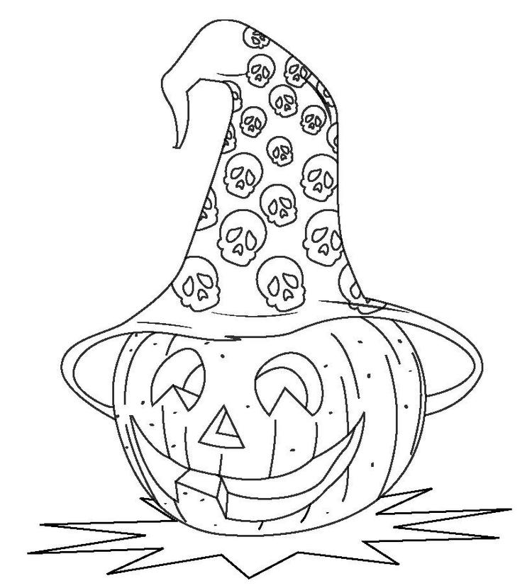 Halloween Coloring Pages Of A Pumpkin Head