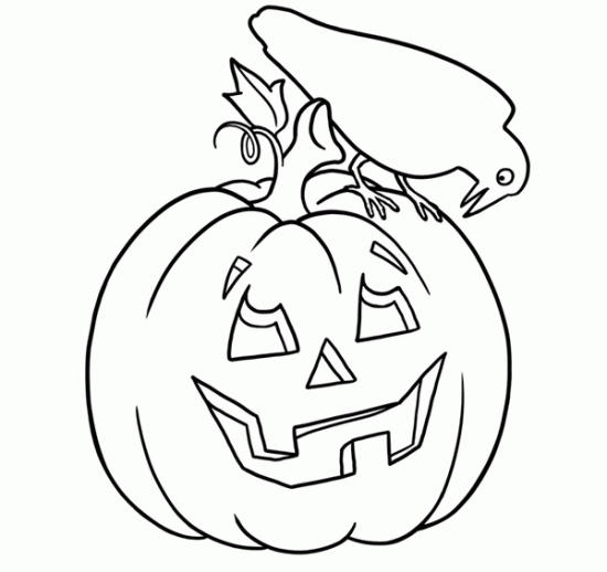 Halloween Coloring Pages Of Pumpkin