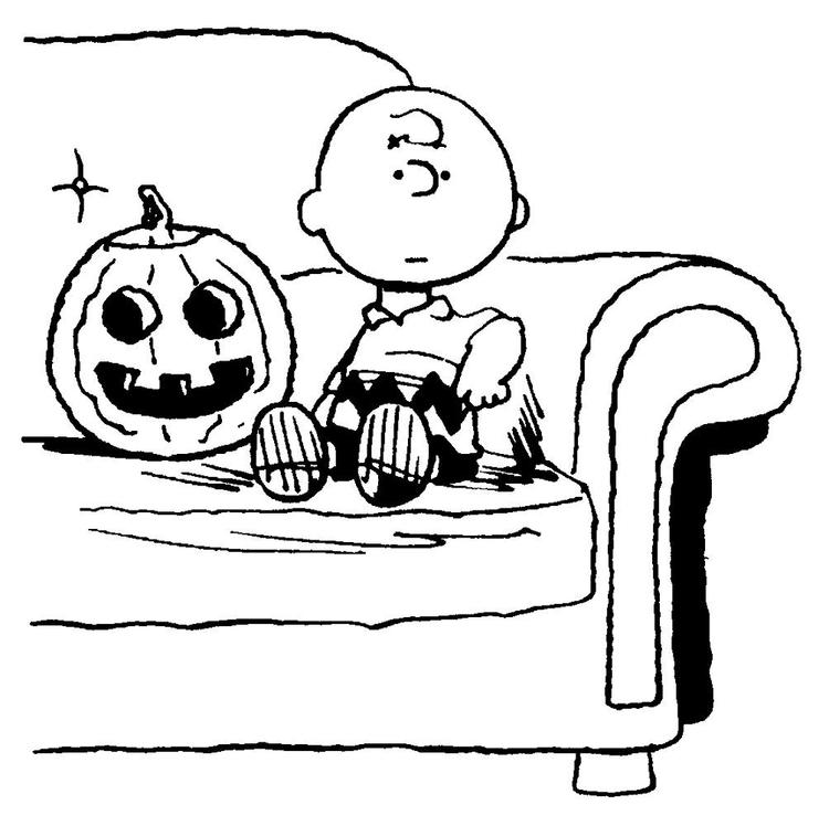 Halloween Coloring Pages Peanuts