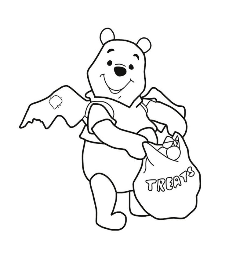 Halloween Coloring Pages Pooh